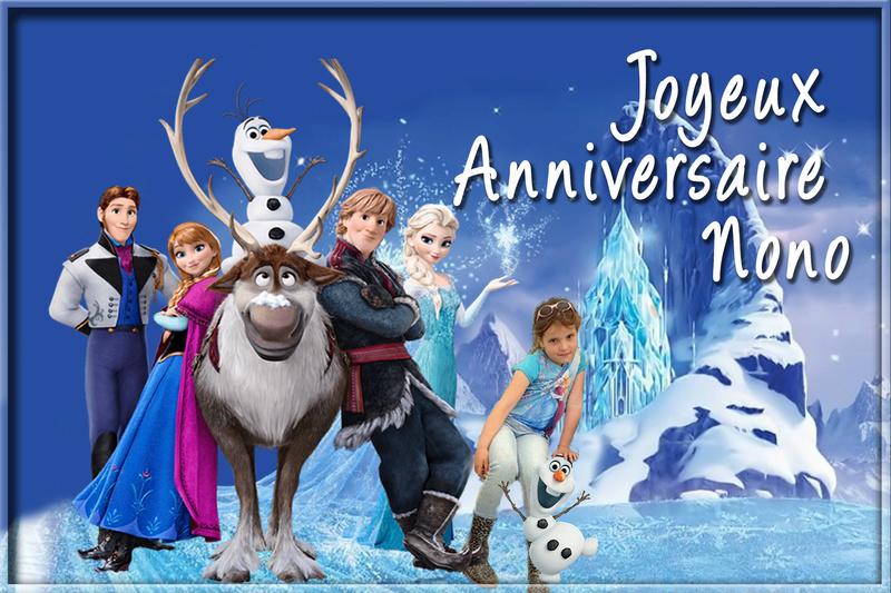 Demande carte d'anniversaire reine des neige tres tres urgent svp Sans_t43