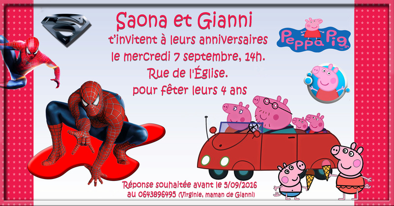 Carton invitation anniversaire  Sans_t52