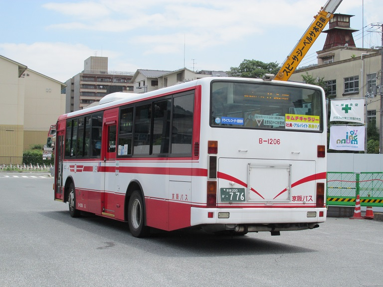 [2016年の夏][京都市] 京阪バス Phot1072