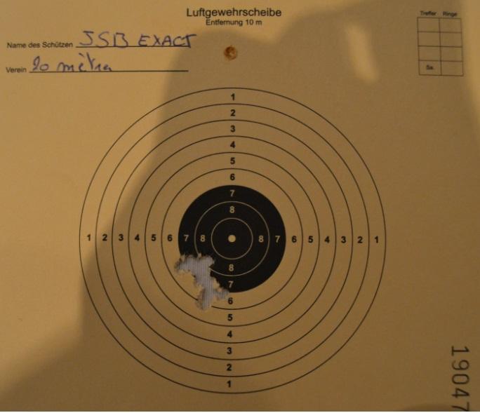 Weihrauch HW50S Distance 20mètres (teste plomb) 212