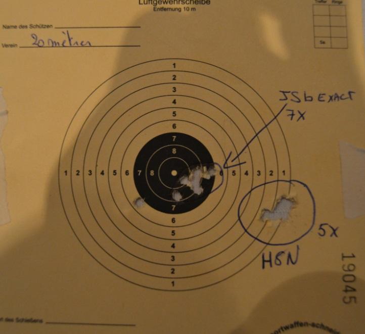 Weihrauch HW50S Distance 20mètres (teste plomb) 312