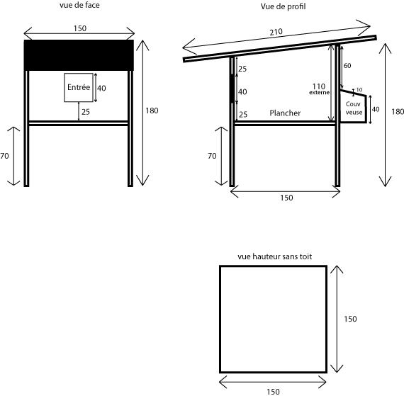 Fabrication d'un poulailler Planpo12