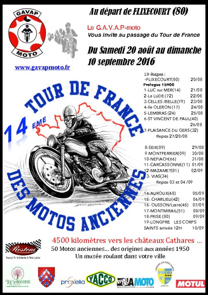 Tour de France des motos anciennes du GAVAP Progra10