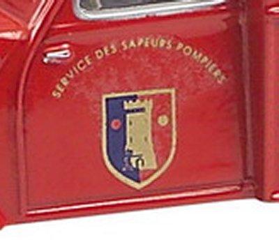 Décoration des pompiers Eligor et Norev Blason22