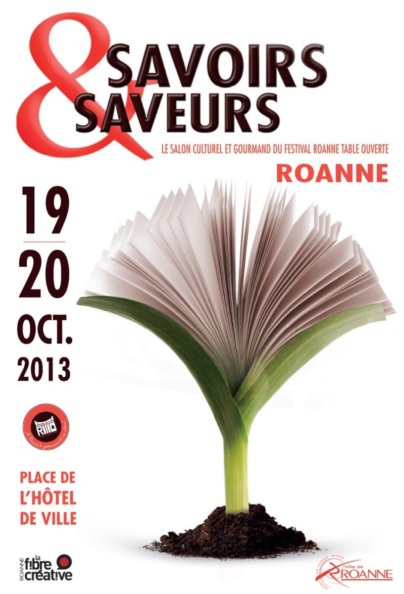 SALON SAVOIRS & SAVEURS - 19 et 20 octobre 2013 - Roanne Affich10