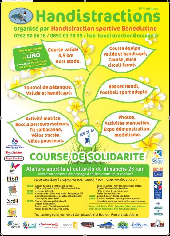 Handistraction le 26 Juin à St Benoît Affich10