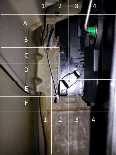 [ mini cooper 2 an 2005 ] cable de portière décroché Serrur13