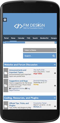 Forumactif Edge - A Free Modern and Responsive Forum Theme Mobile10