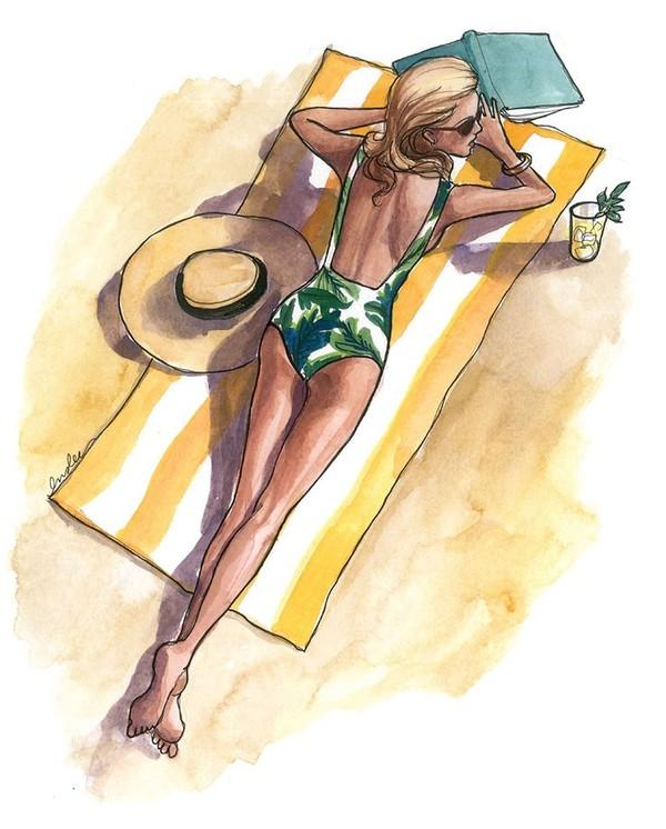 """Illustrations ... pour l'été ... Plage et """"farniente"""" ... - Page 3 A_b13"""