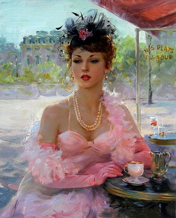 """Des élégantes  """"chapeautées"""" ... Art_fe65"""