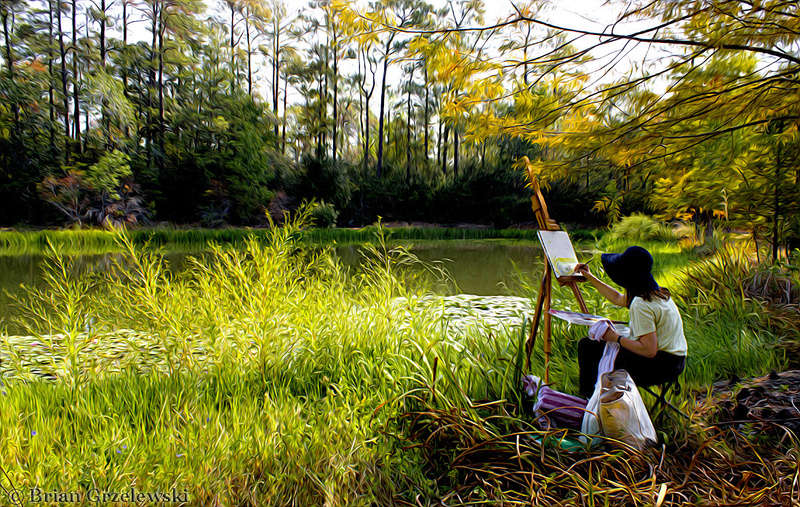 L'eau paisible des ruisseaux et petites rivières  Painti10