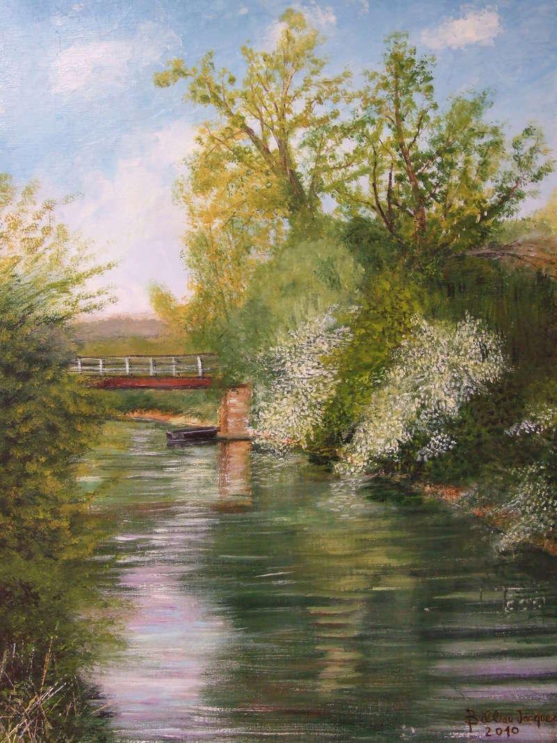 L'eau paisible des ruisseaux et petites rivières  Pont10
