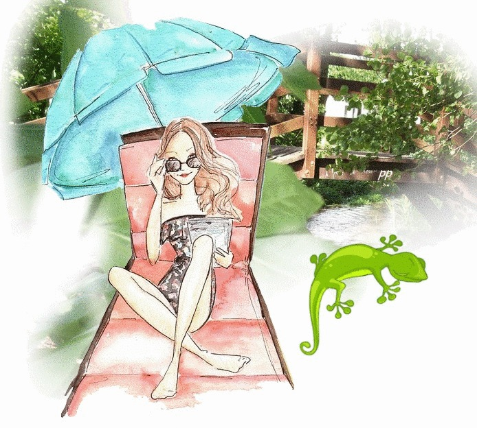 """Illustrations ... pour l'été ... Plage et """"farniente"""" ... - Page 2 Transa10"""