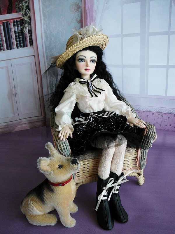 Mon Dahlia Noir (Lili Miro Doll)  Nouveau face-up ! 14_bla10