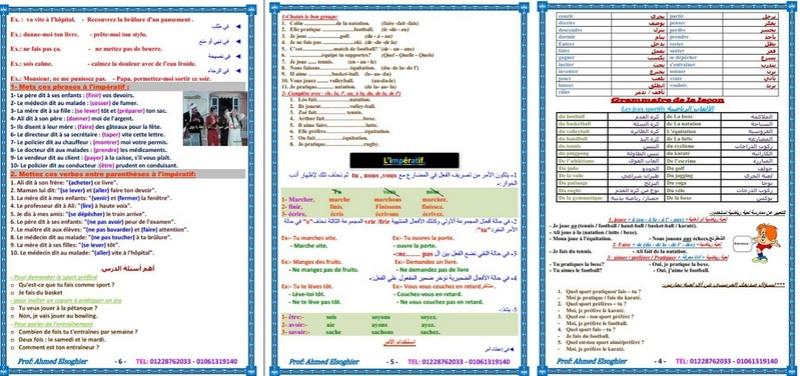 """اقوي مذكرة لغة فرنسية لطلاب الثانوية العامة شاملة """"المنهج كاملا"""" .. مسيو احمد الصغير 336910"""