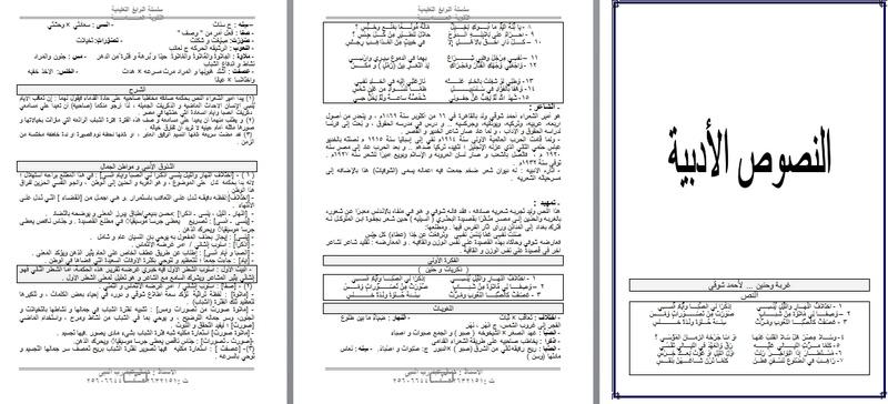 احدث مذكرة لغة عربية للصف الثالث الثانوي المنهج الجديد 2017 بصورة متكاملة  8213310
