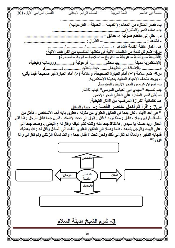 اول مذكرة لغة عربية كاملة شاملة للرابع الابتدائي ترم أول2017 منهج معدل - صفحة 2 O_eo_o16