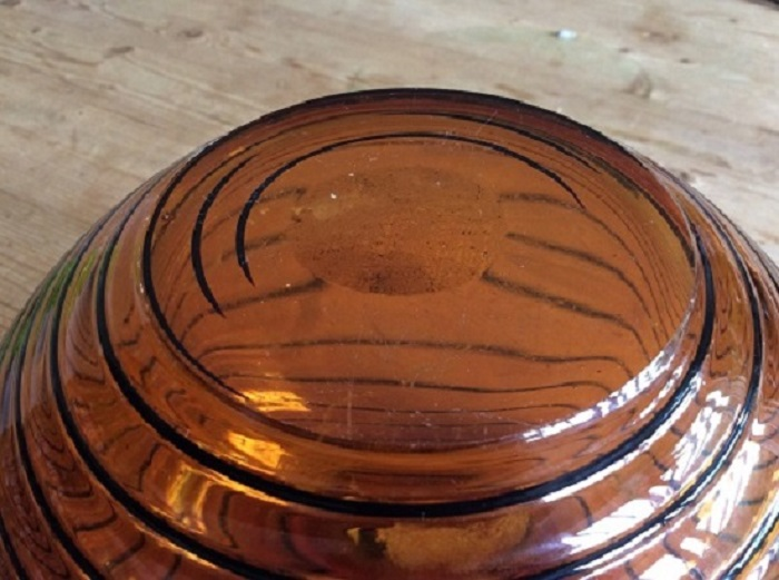 anyone identify maker of this amber ovoid art glass bowl Img_1213