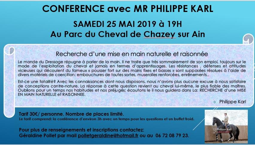 Conférence Philippe KARL - Chazey/Ain 20190510
