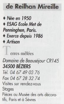 Agateware / marbled clay plate by Mireille de Reilhan, France De_rei10