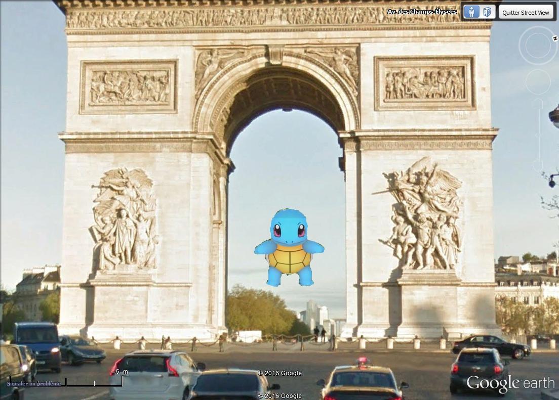 Le premier POKEMON GO capturé sur Google Earth Etoil_10