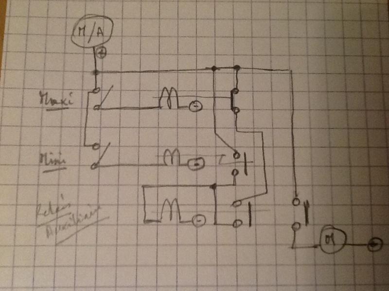 Schéma de câblage d'un Manomètre à deux contacts Image24