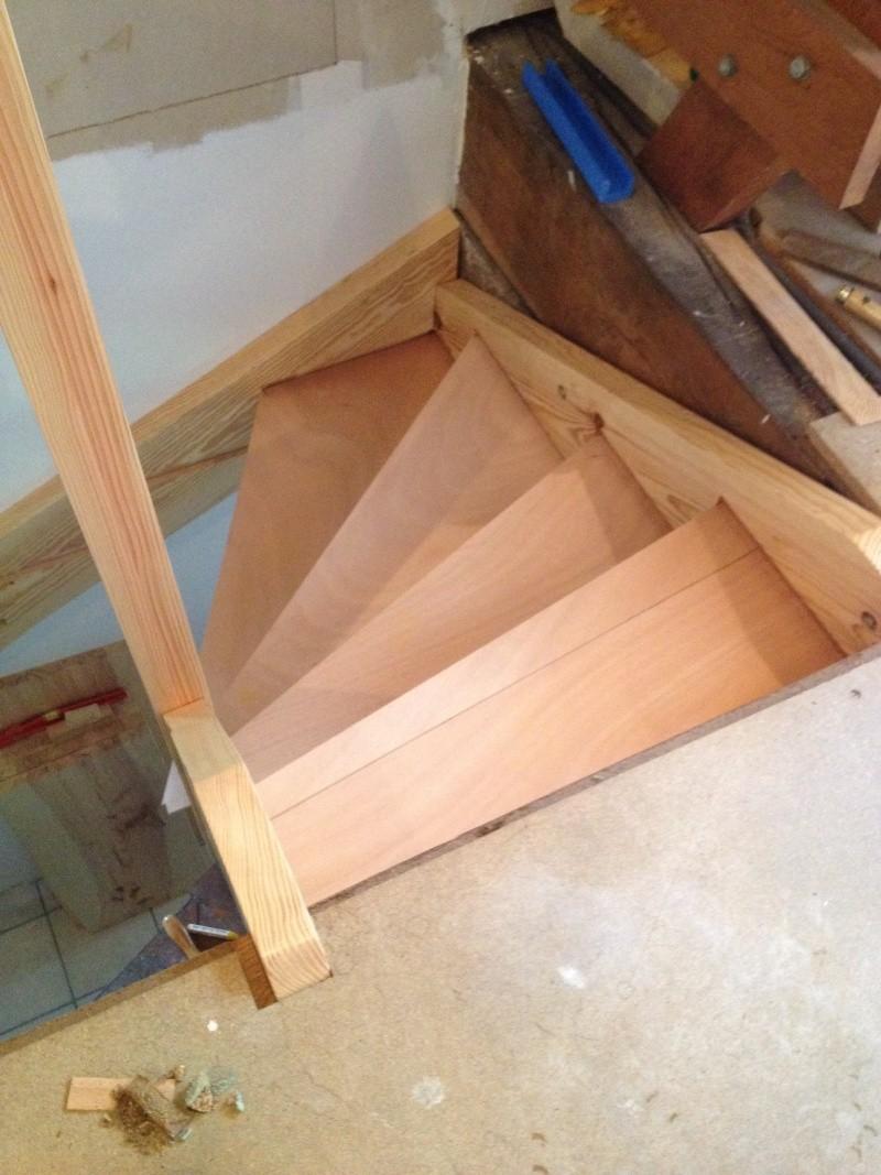 Escalier provisoire devenu définitif en pin sylvestre, à double balancements - Page 3 Img_0015