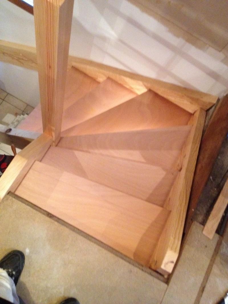 Escalier provisoire devenu définitif en pin sylvestre, à double balancements - Page 3 Img_0016