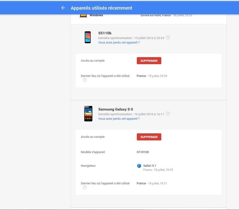 Portable inconnu sur mon compte GooglePlay Google13