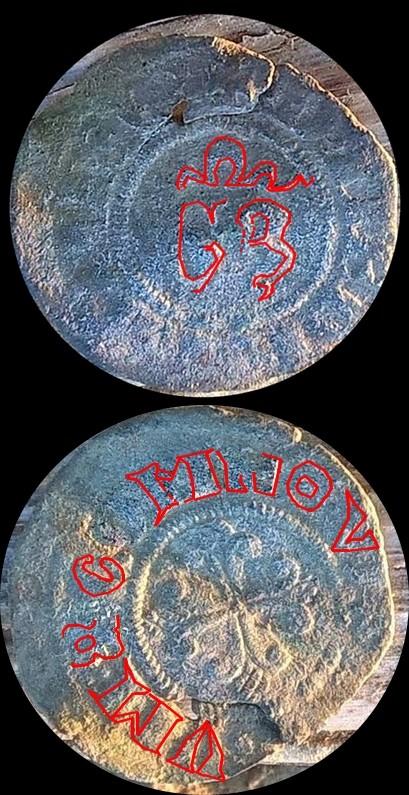 Denier du Duché de Milan pour Jean Galéas Visconti (1385-1402) Bernar10