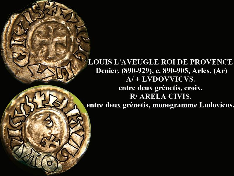 Très rare obole de Louis L'Aveugle, Roi de Provence ... Nemaus12