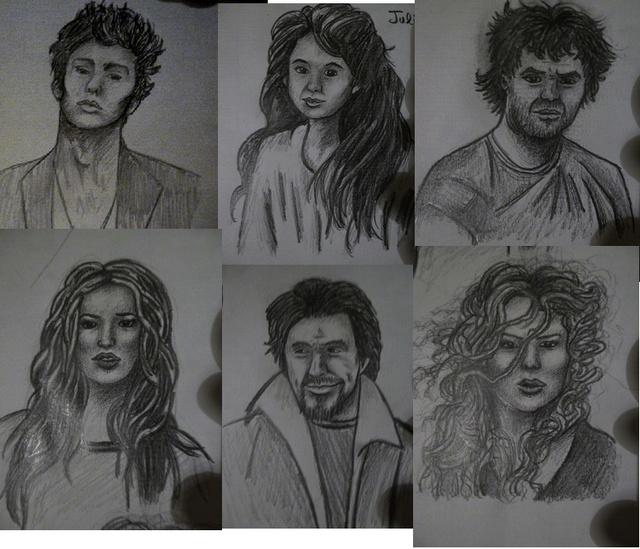 Quand je n'écris pas, je dessine mes personnages... P1000612