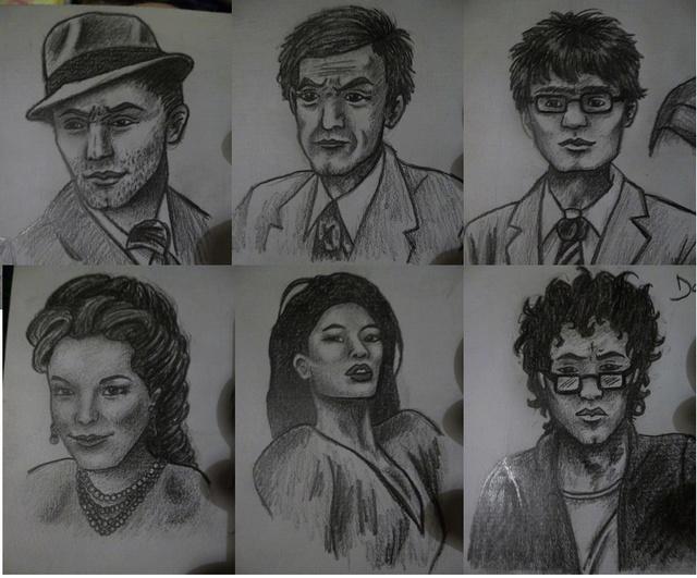Quand je n'écris pas, je dessine mes personnages... P1000613