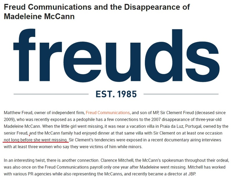 Freud Communications and the Disappearance of Madeleine McCann. Freudc10