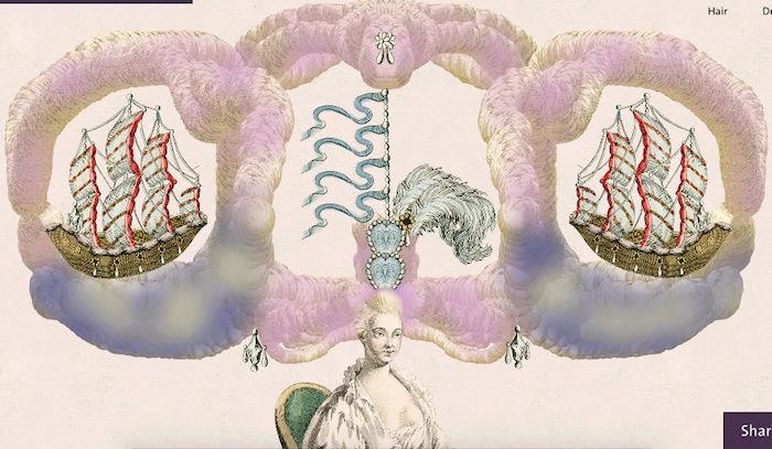 Amusement : Création d'une perruque à la mode du XVIIIè siècle Captur51