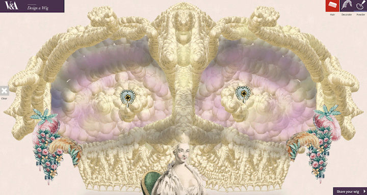 Amusement : Création d'une perruque à la mode du XVIIIè siècle Captur52
