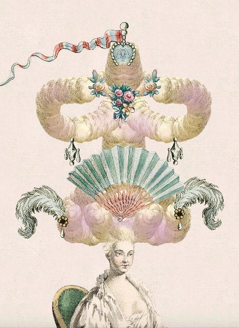 Amusement : Création d'une perruque à la mode du XVIIIè siècle Coiffu10