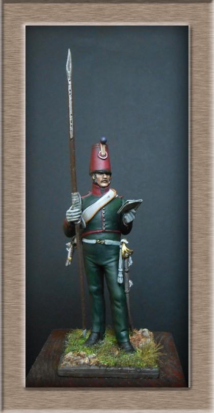 Eclaireur Dragon 2ème régiment Jeune Garde 1814.MM54mm. Dscn5418