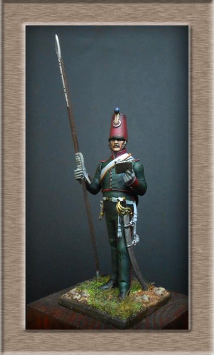 Eclaireur Dragon 2ème régiment Jeune Garde 1814.MM54mm. Dscn5421