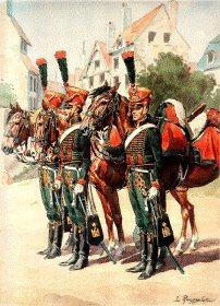 Chasseur à Cheval escadron jeune Garde 1813-1814 Un13213