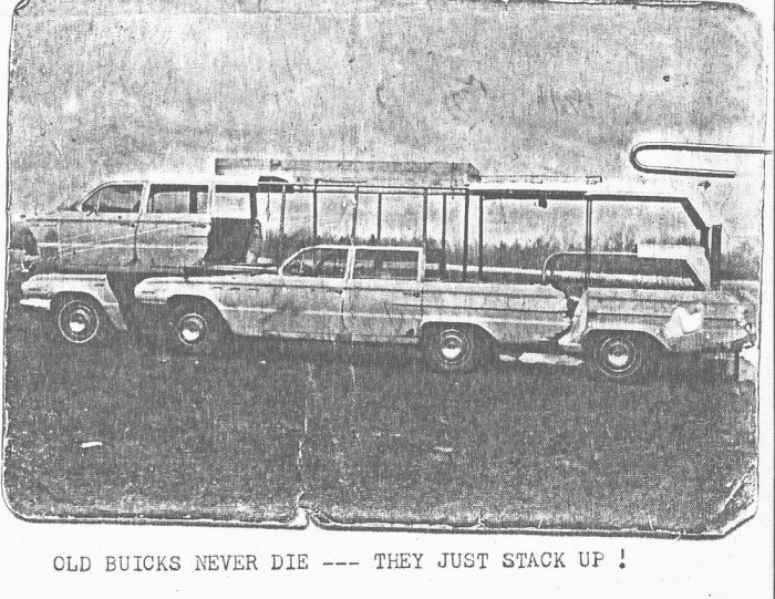 The homemade motorhome made from two 1962 Buick station wagons 54448310