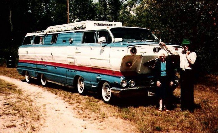 The homemade motorhome made from two 1962 Buick station wagons Shamro10
