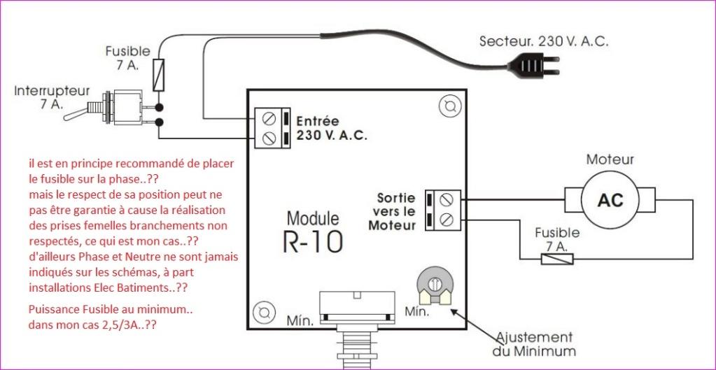 Branchement Variateur Choix sur Mot Universel 450W 220V  Connex12