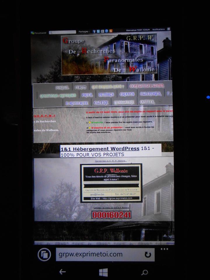 Se connecter au forum officiel via un smartphone. 13450110