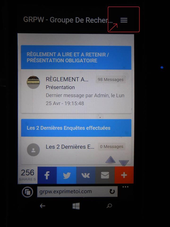Se connecter au forum officiel via un smartphone. 13466210