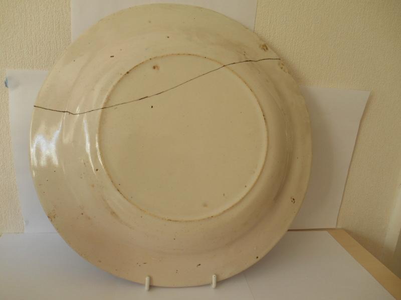 ID & Age help please 18th/19th? c. Tulip Delftware? Plate 32x4 cm Dscn0110
