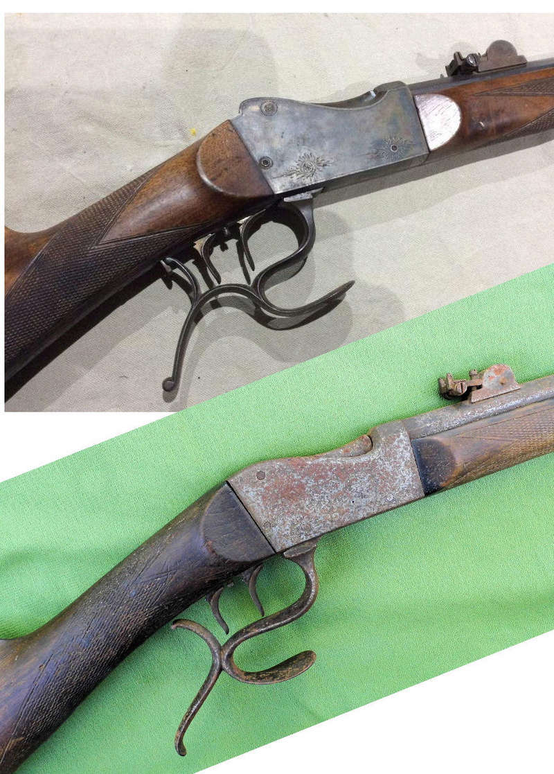 Une carabine de tir en 22lr d'origine inconnue, à restaurer. Martin24