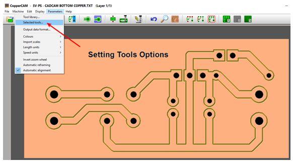 كيفية تحويل وقشط  mill مخطط PCB على ماكينة CNC 1010