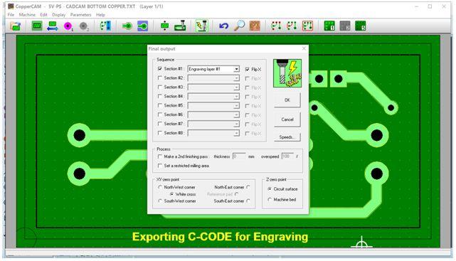 كيفية تحويل وقشط  mill مخطط PCB على ماكينة CNC 1210