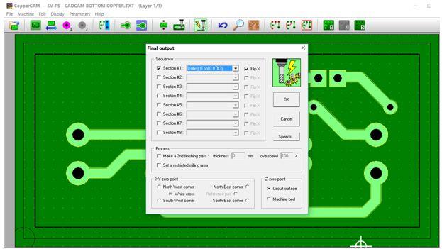 كيفية تحويل وقشط  mill مخطط PCB على ماكينة CNC 1410